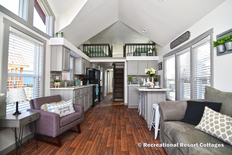 Recreational Resort Cottages and Cabins-Models on Display on